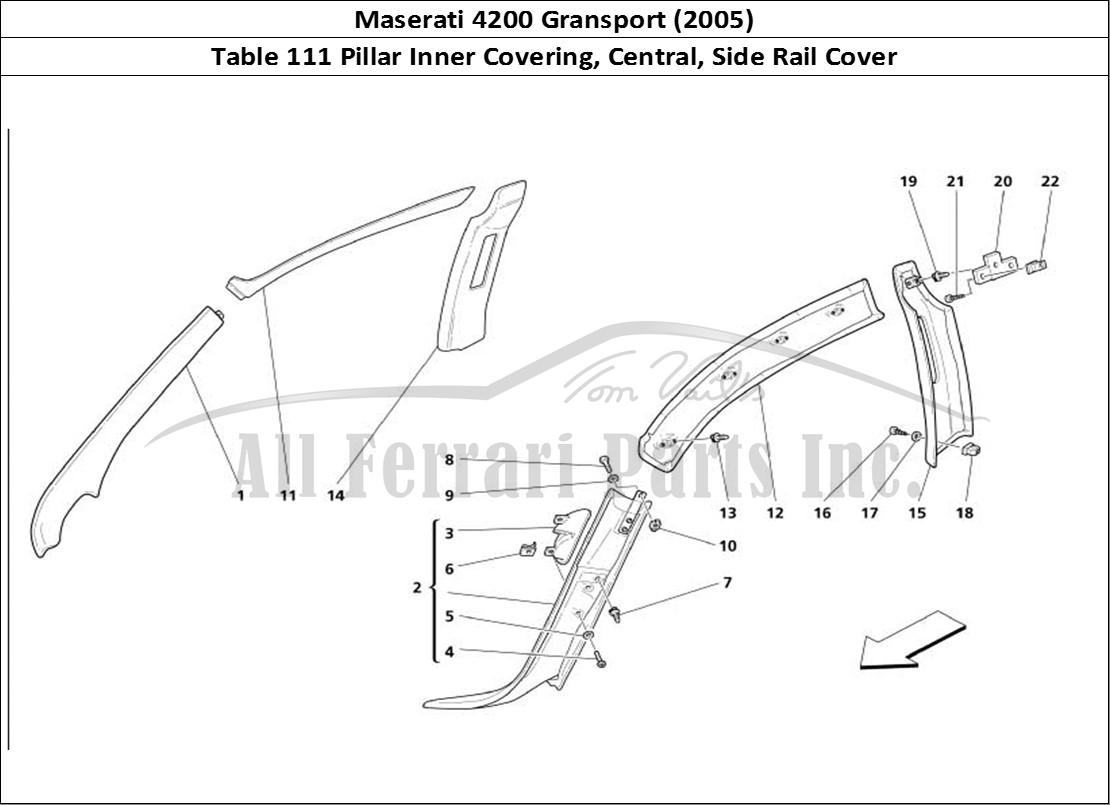 Buy original Maserati 4200 Gransport (2005) 111 Pillar