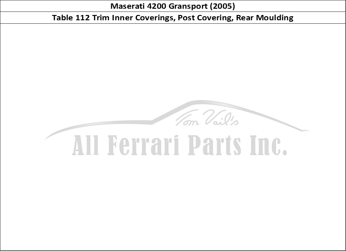 Buy original Maserati 4200 Gransport (2005) 112 Trim Inner
