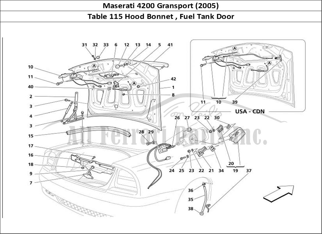 Buy original Maserati 4200 Gransport (2005) 115 Hood