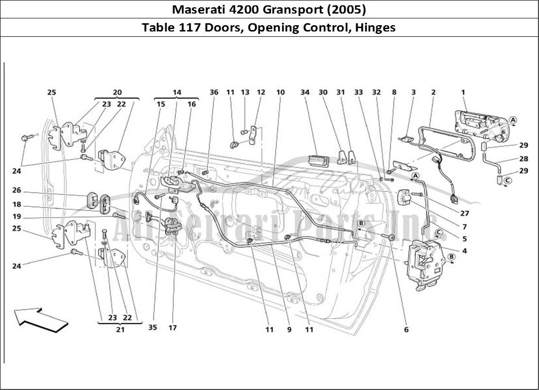Buy original Maserati 4200 Gransport (2005) 117 Doors