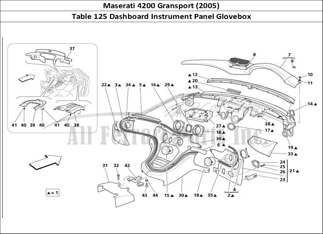 Buy original Maserati 4200 Gransport (2005) 125 Dashboard