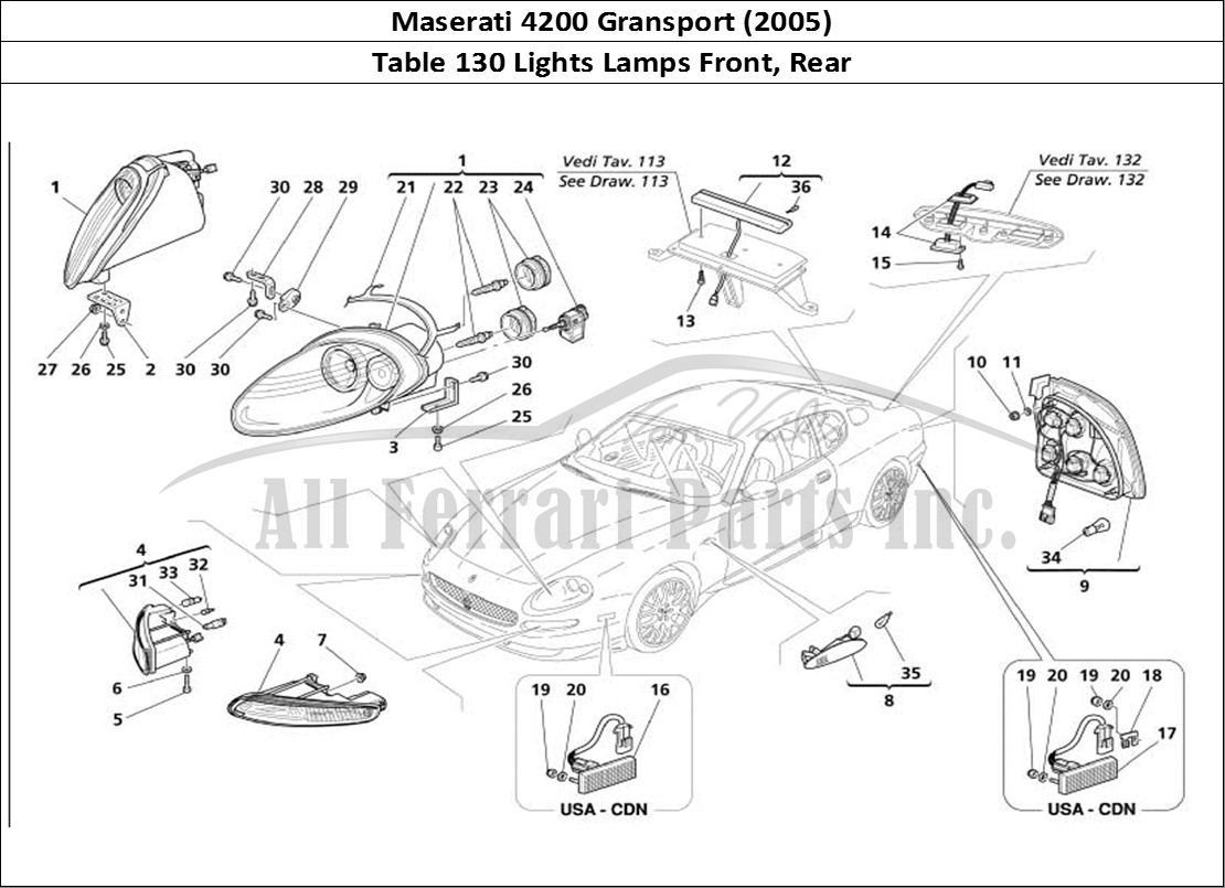 Buy Original Maserati Gransport 130 Lights