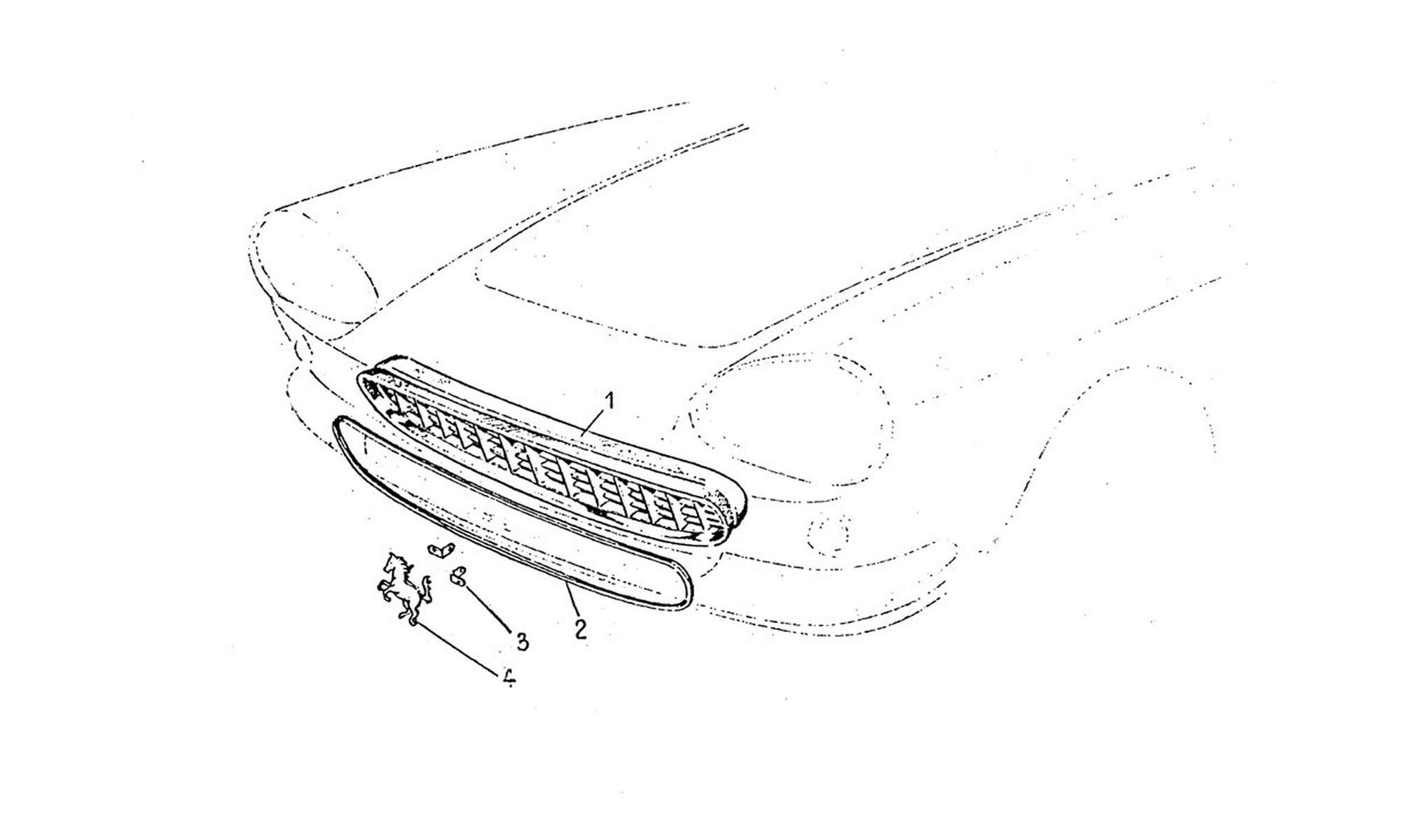 Buy original Ferrari 330 GT 2+2 016 Grill Radiator Ferrari