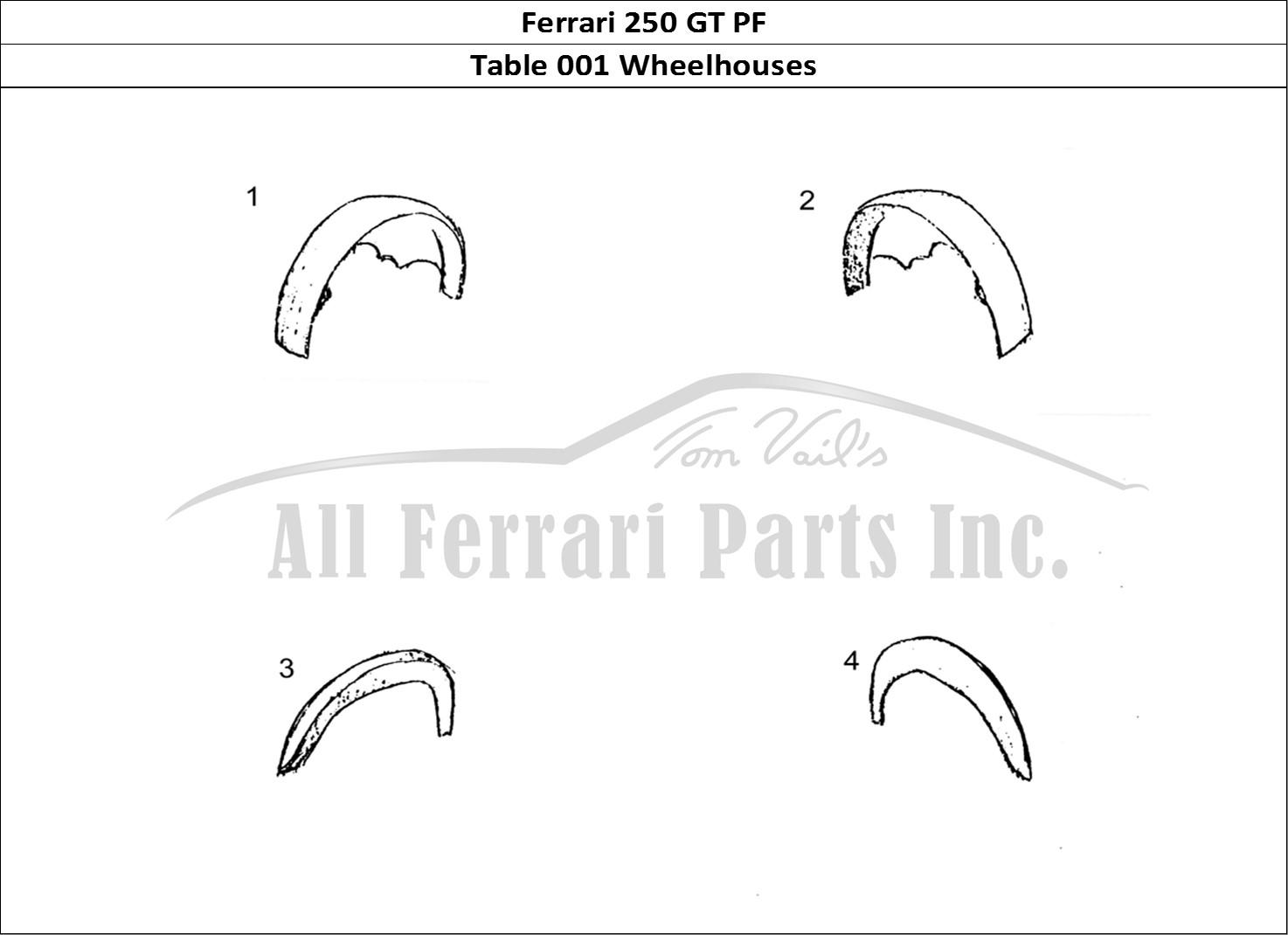 Buy original Ferrari 250 GT PF 001 Wheelhouses Ferrari