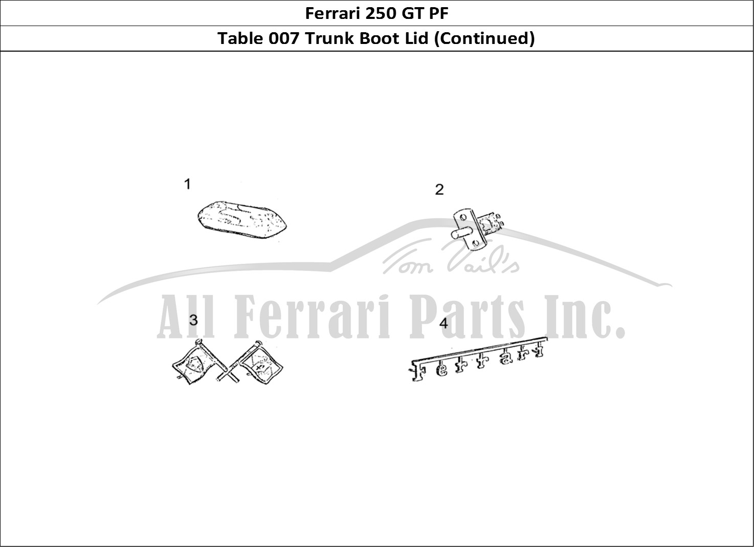 Buy original Ferrari 250 GT PF 007 Trunk Boot Lid