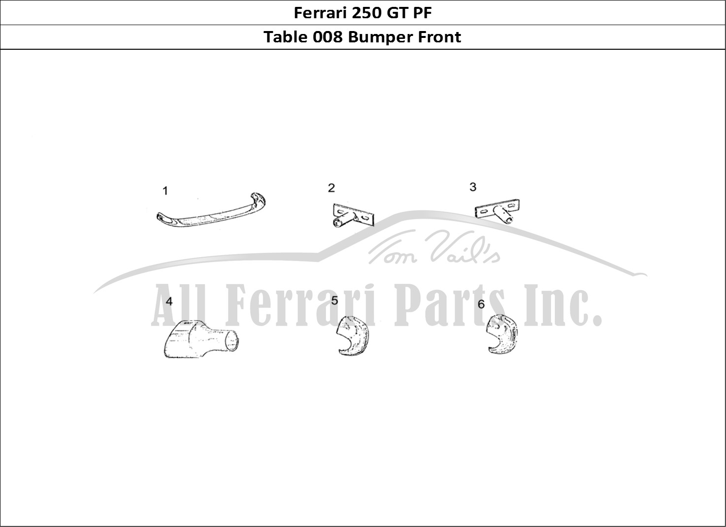 Buy original Ferrari 250 GT PF 008 Bumper Front Ferrari