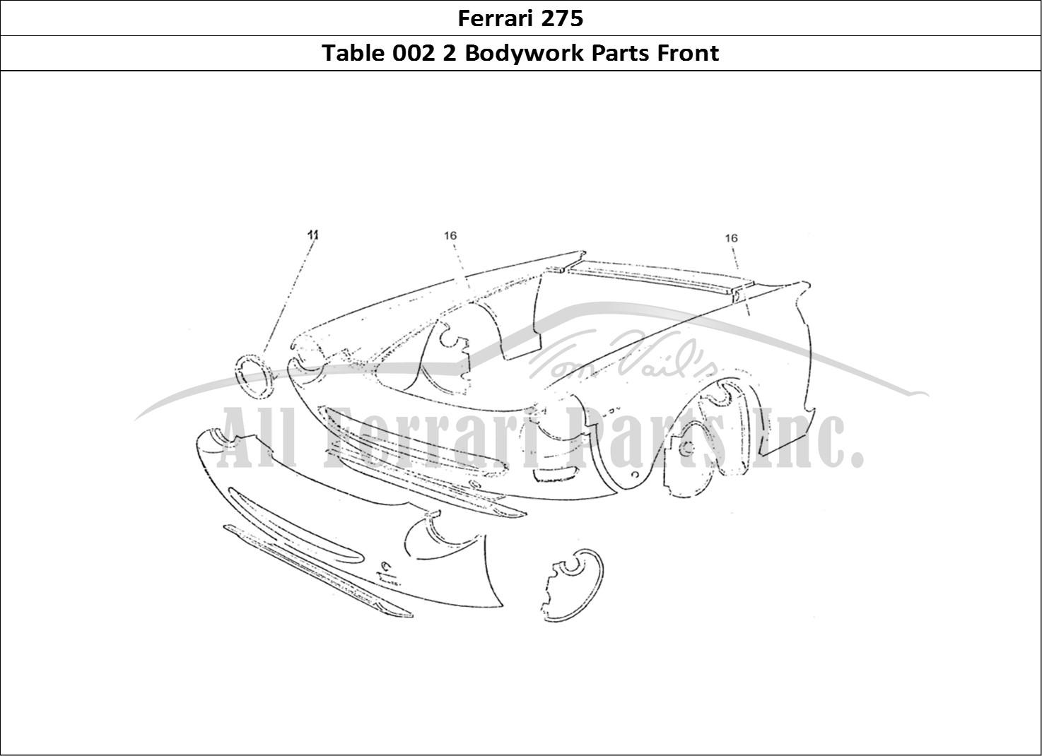 Buy original Ferrari 275 002 2 Bodywork Parts Front