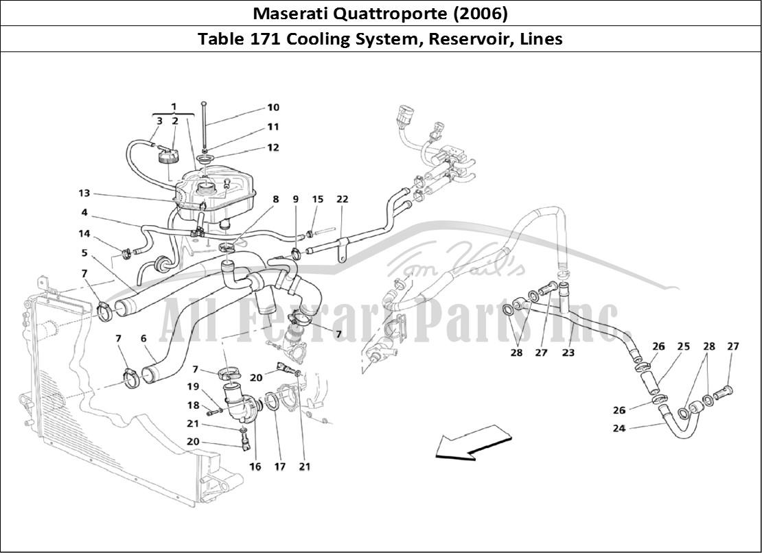 Buy original Maserati Quattroporte (2006) 171 Cooling