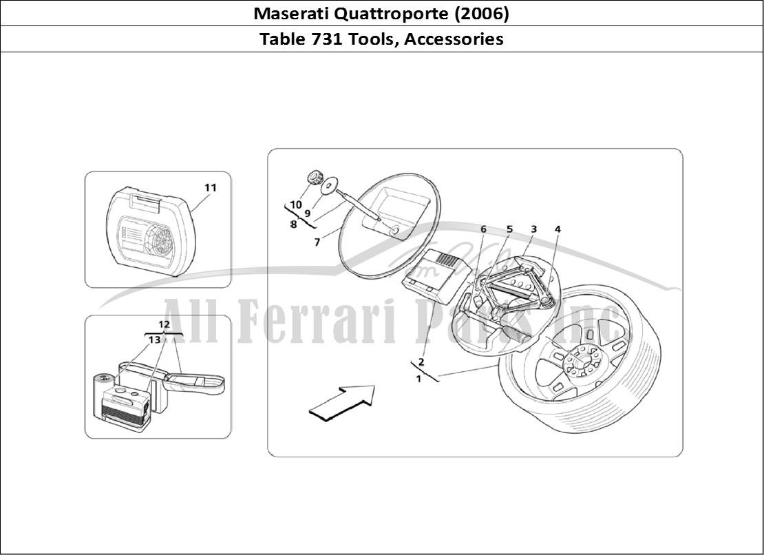 Buy original Maserati Quattroporte (2006) 731 Tools