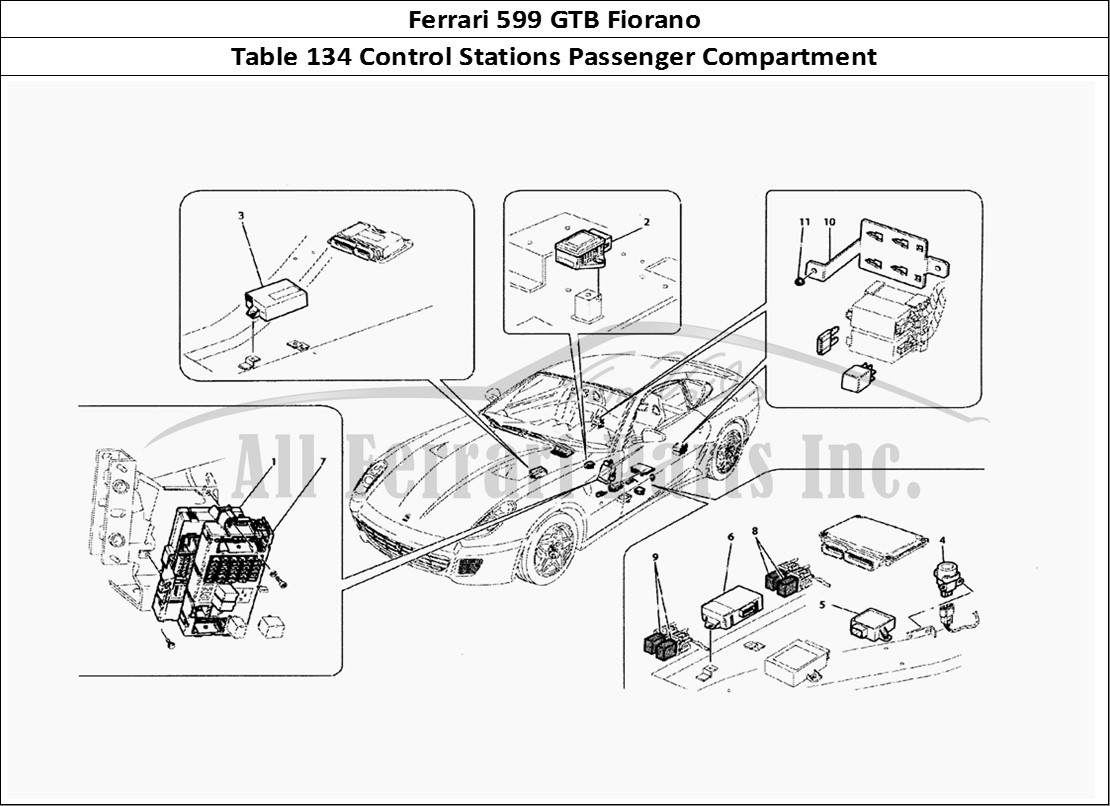 Buy original Ferrari 599 GTB Fiorano 134 Control Stations