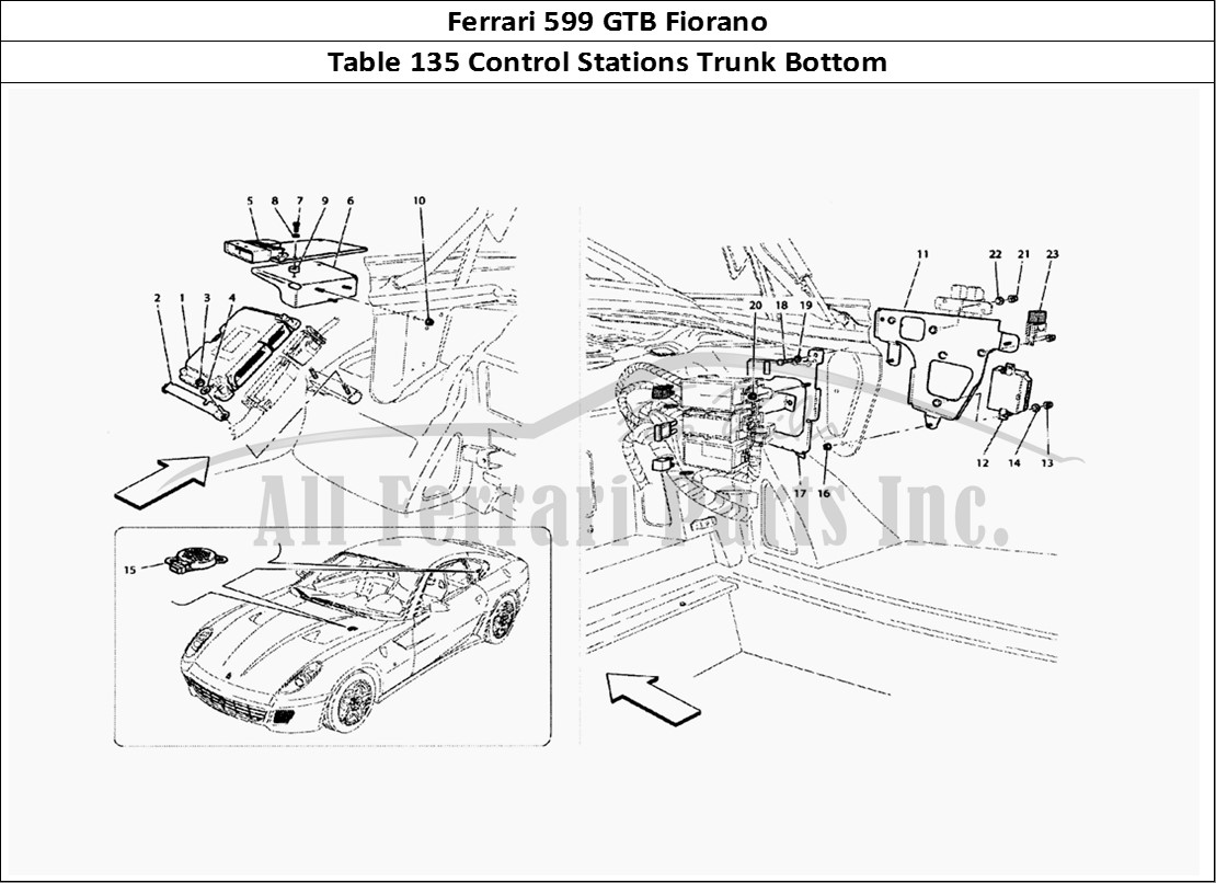 Buy original Ferrari 599 GTB Fiorano 135 Control Stations