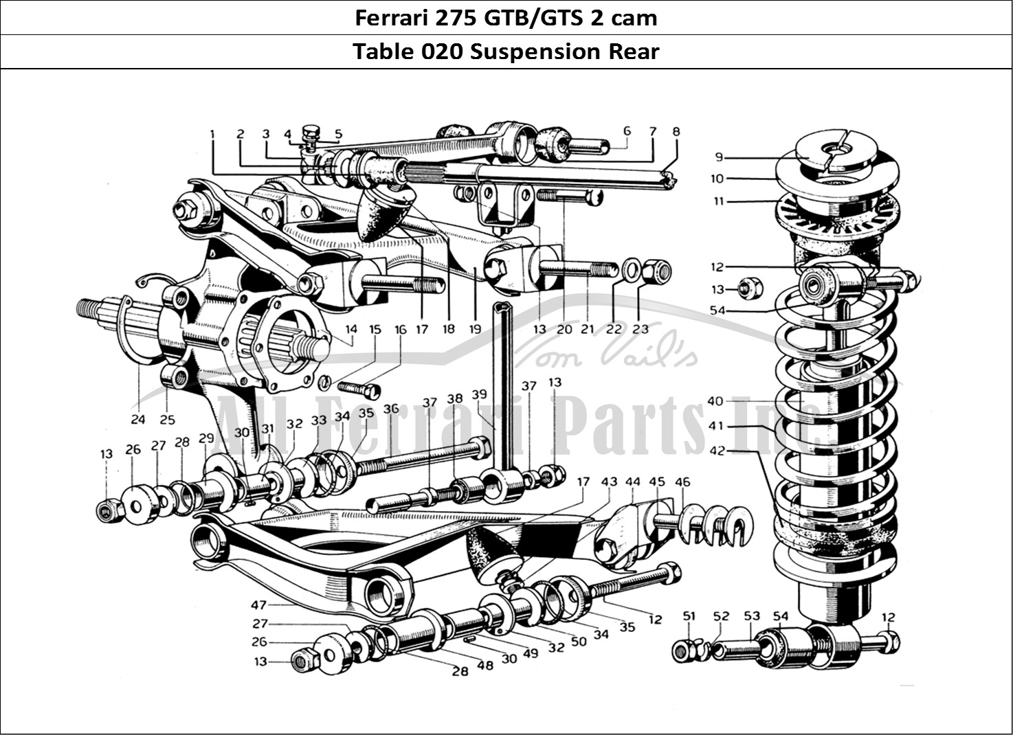 Buy original Ferrari 275 GTB/GTS 2 cam 020 Suspension Rear
