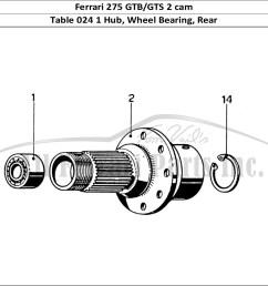 ferrari 275 gtb gts 2 cam mechanical table 024 1 hub wheel bearing rear [ 1474 x 1070 Pixel ]