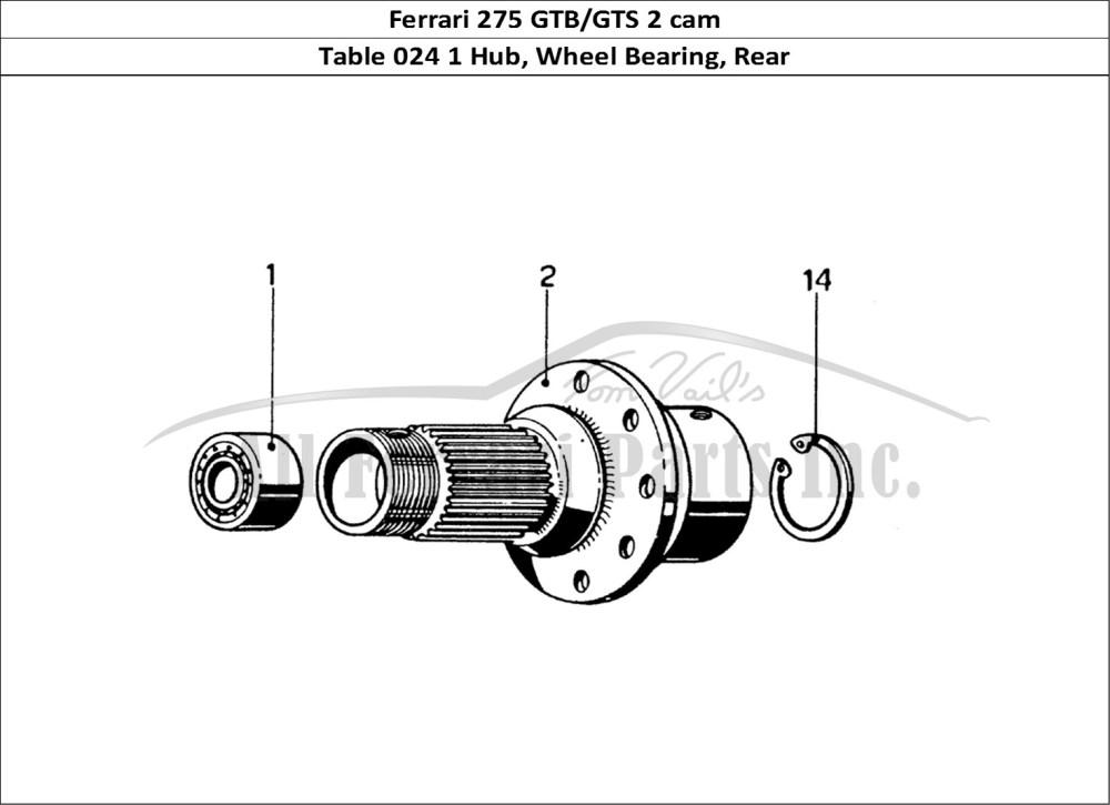 medium resolution of ferrari 275 gtb gts 2 cam mechanical table 024 1 hub wheel bearing rear