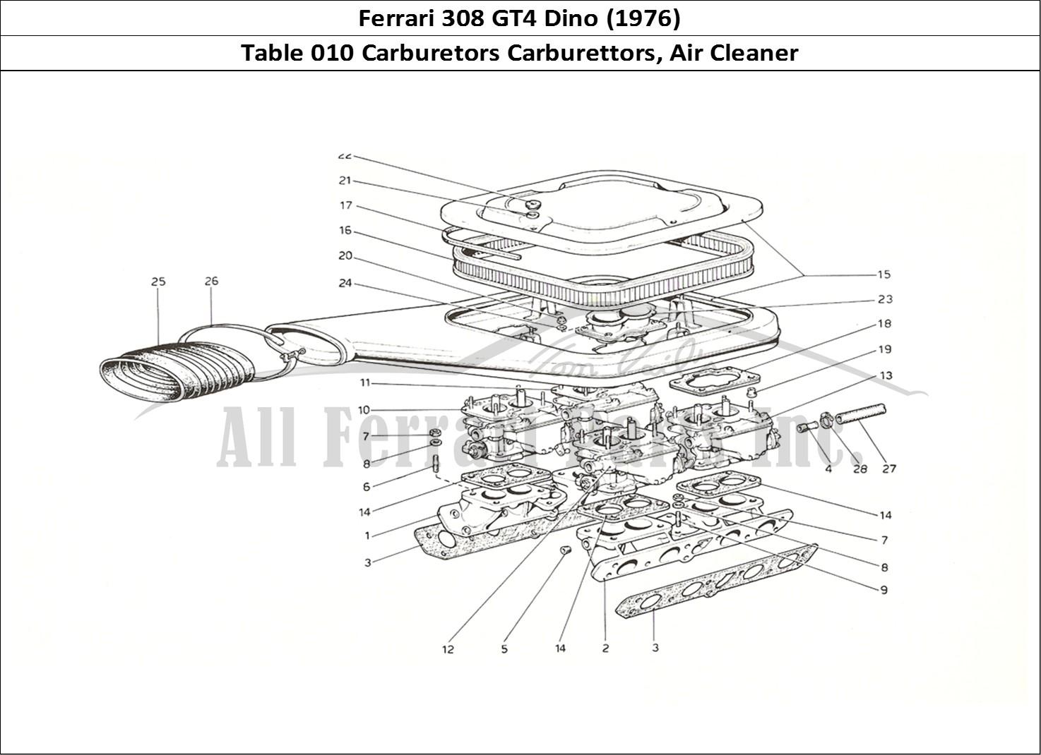 Buy original Ferrari 308 GT4 Dino (1976) 010 Carburetors