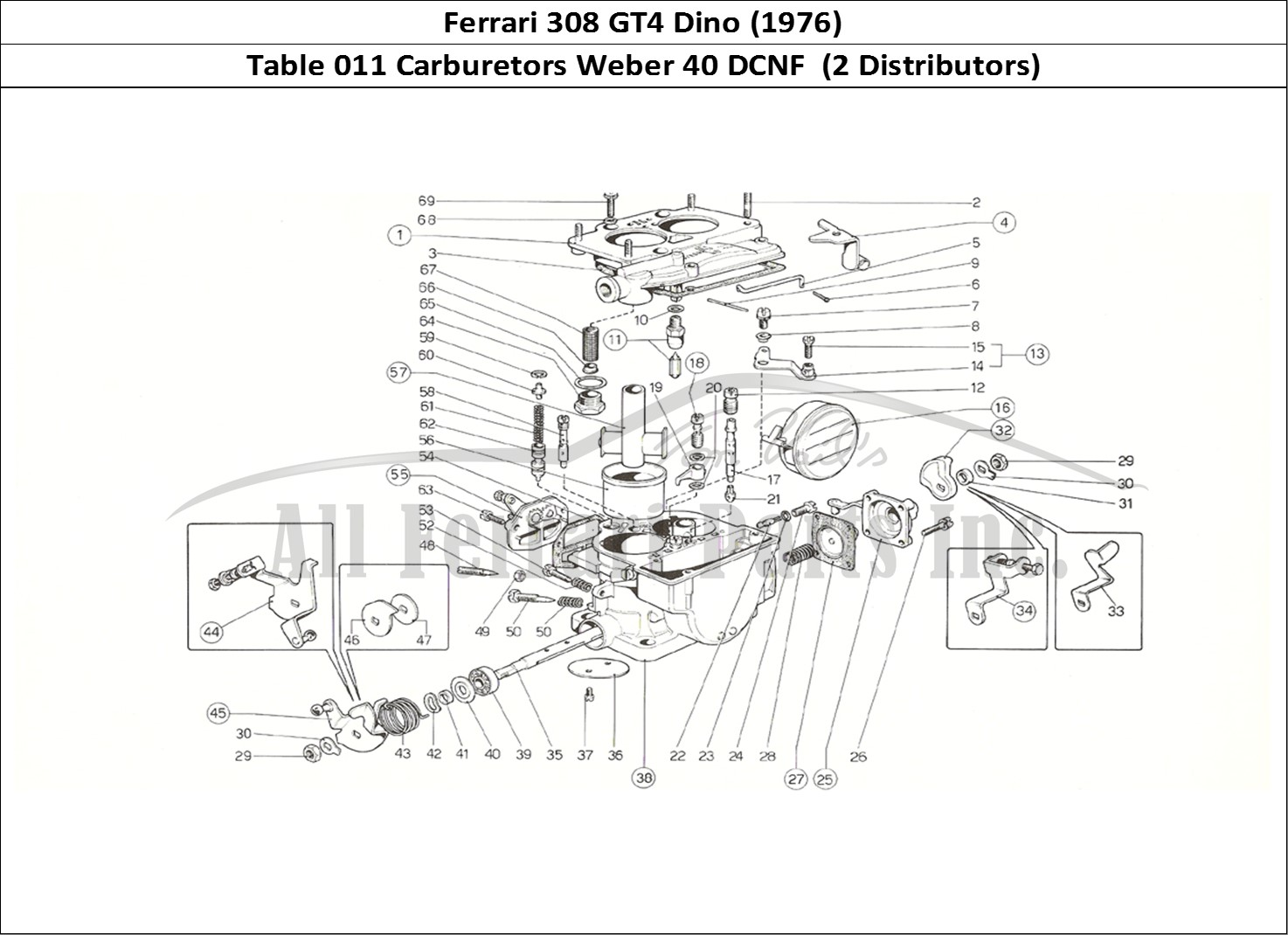 Buy original Ferrari 308 GT4 Dino (1976) 011 Carburetors