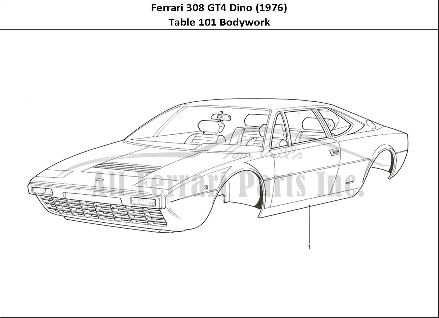 Buy original Ferrari 308 GT4 Dino (1976) 101 Bodywork