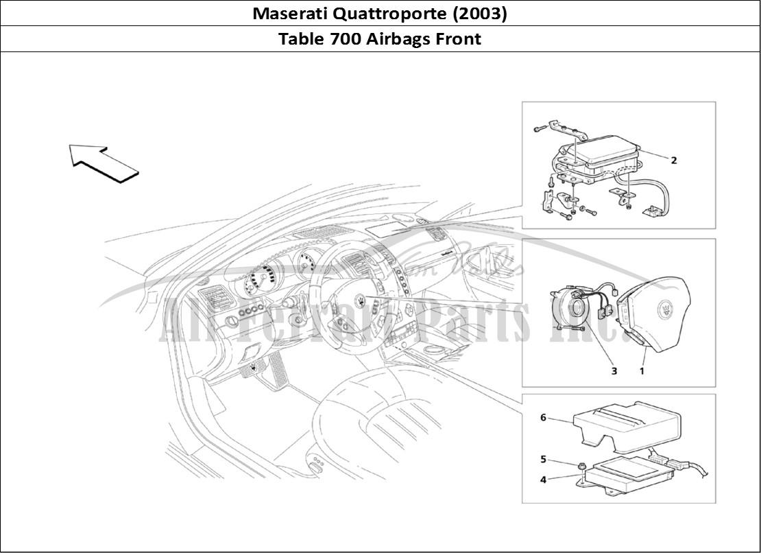 Buy original Maserati Quattroporte (2003) 700 Airbags