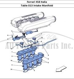 ferrari 458 italia mechanical table 013 intake manifold [ 1110 x 806 Pixel ]