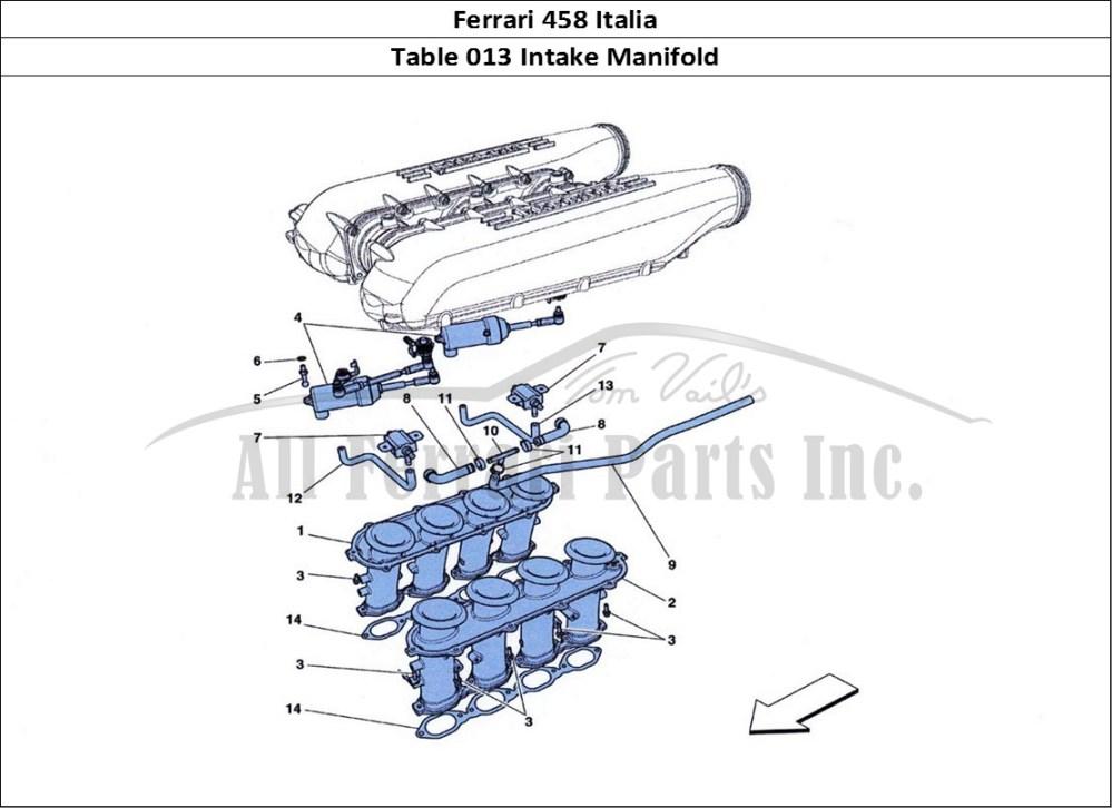 medium resolution of ferrari 458 italia mechanical table 013 intake manifold
