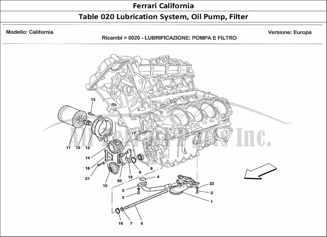 Buy original Ferrari California 020 Lubrication System