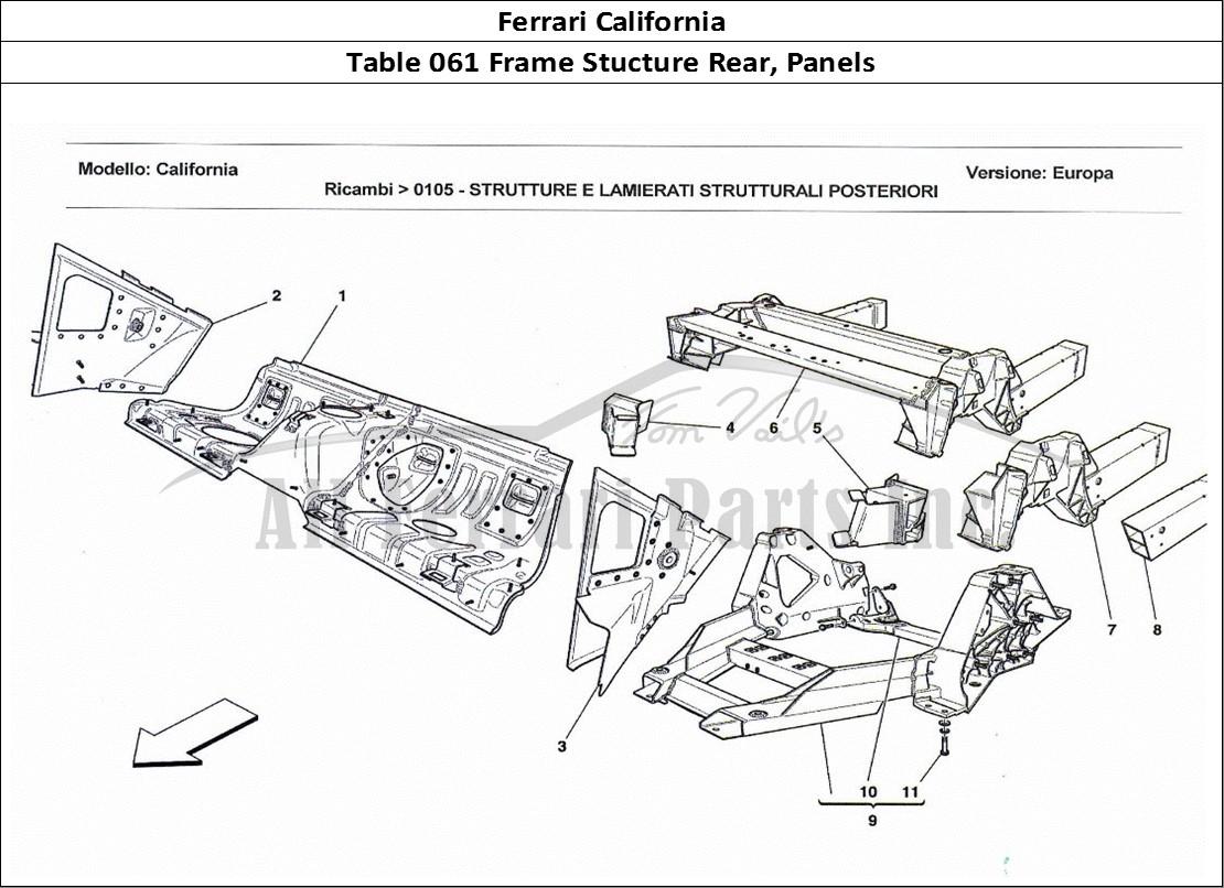 Buy original Ferrari California 061 Frame Stucture Rear