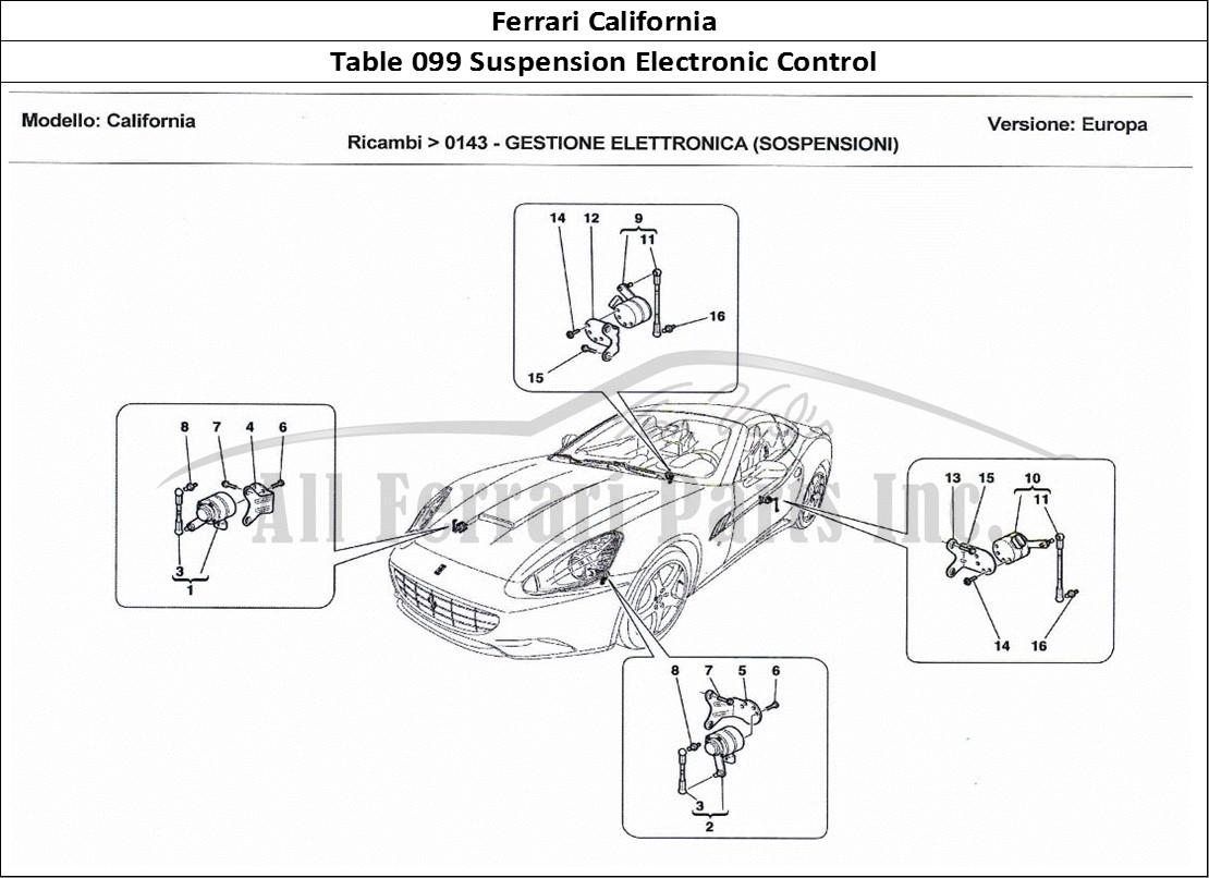 Buy original Ferrari California 099 Suspension Electronic