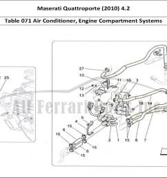 maserati quattroporte 2010 4 2 bodywork table 071 air conditioner engine compartment systems [ 1110 x 805 Pixel ]