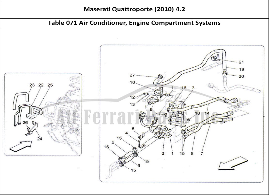 hight resolution of maserati quattroporte 2010 4 2 bodywork table 071 air conditioner engine compartment systems