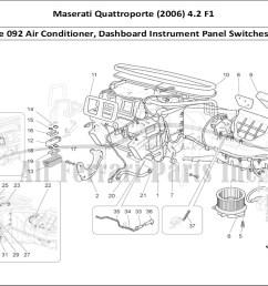 maserati quattroporte 2006 4 2 f1 bodywork table 092 air conditioner dashboard instrument panel switches etc  [ 1110 x 806 Pixel ]