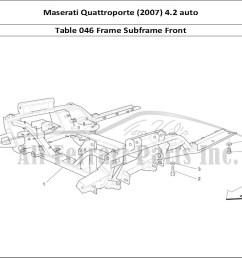 maserati quattroporte 2007 4 2 auto mechanical table 046 frame subframe front [ 1110 x 806 Pixel ]