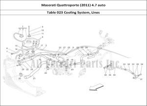 Buy original Maserati Quattroporte (2011) 47 auto 023 Cooling System, Lines Ferrari parts
