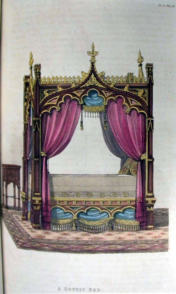 Gothic Revival Furniture Beds