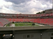 Sanford Stadium on game day (before the game)