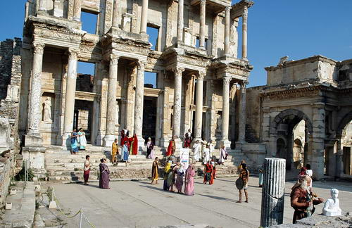 Library of Celsus at Ephesus. Photo by Ferrell Jenkins.