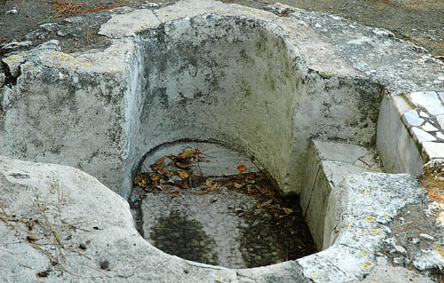 Baptistry in 5th century church at Emmaus. Photo by Ferrell Jenkins.