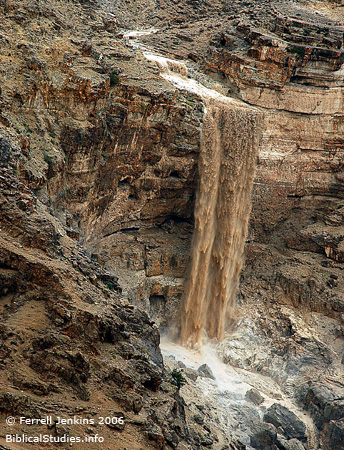 Wilderness of Judea Waterfall - April 2, 2006. Photo by Ferrell Jenkins.