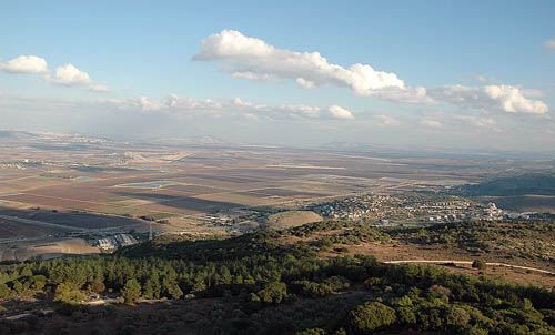 View of the Valley of Megiddo from Muraka. Photo by Ferrell Jenkins.