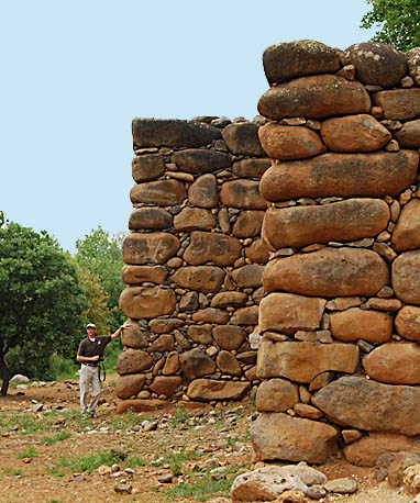 Reconstruction of the City Wall at Tel Dan. Photo by Ferrell Jenkins.