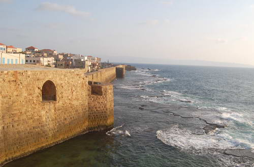 The Crusader fortress at Akko (Acre). Photo by Ferrell Jenkins.