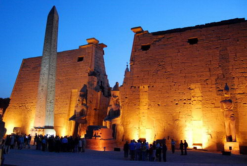 Luxor Temple in Egypt. Photo by Ferrell Jenkins.