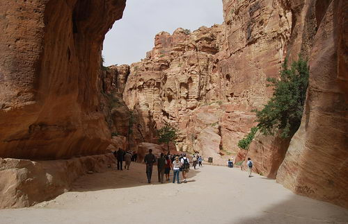 The beginning of the Siq at Petra. Photo by Ferrell Jenkins.