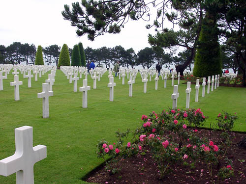The American Cemetery at Omaha Beach in Normandy. Photo by F. Jenkins.
