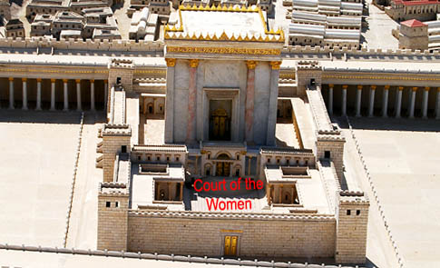 Second Temple Model showing the Court of the Women. Photo by F. Jenkins.
