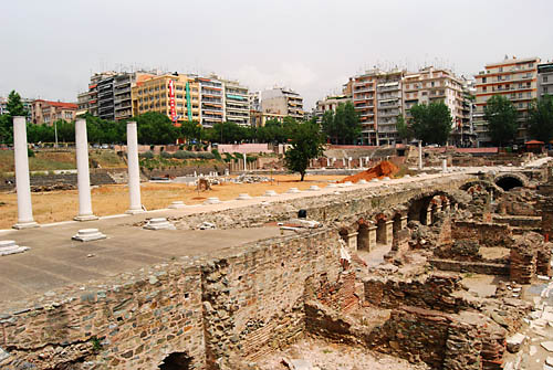 Roman Forum at Thessalonica. Photo by Ferrell Jenkins.