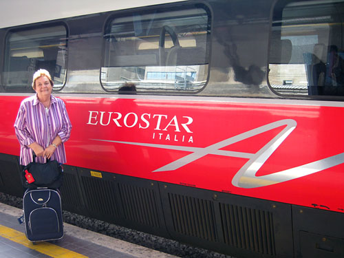 Elizabeth and I enjoyed the Eurostar trip. Photo by Ferrell Jenkins.