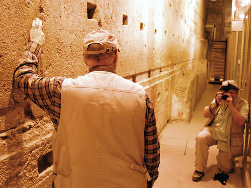The largest visible stone in the Western Wall tunnel. Photo by Ferrell Jenkins.