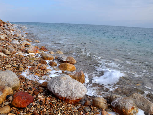 Along the shore of the Dead Sea. Photo by Ferrell Jenkins 2009.