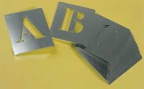 abecedario pintar aluminio 80mm a-z