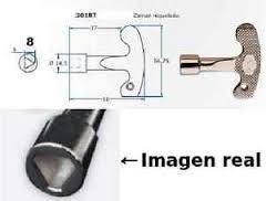 llave contador triangulo 8mm
